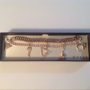 "Guess Rose Gold 7.5"" Charm Bracelet"